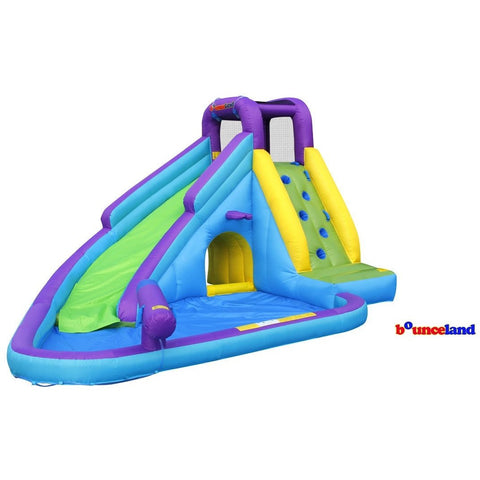 Bounceland Inflatable Sun N' Fun Water Slide with Pool