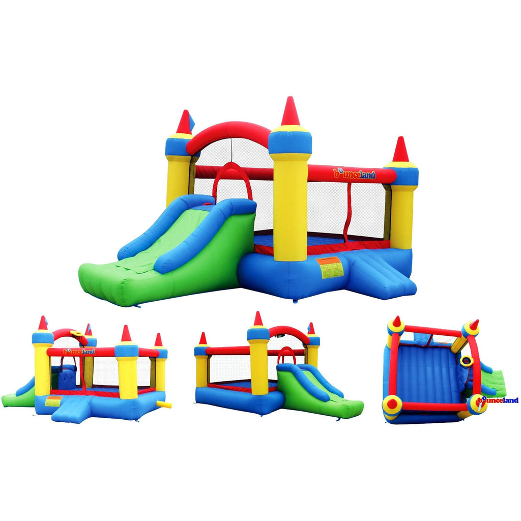 Residential Bounce House - Bounceland Mega Castle with Slide Bounce House - The Bounce House Store