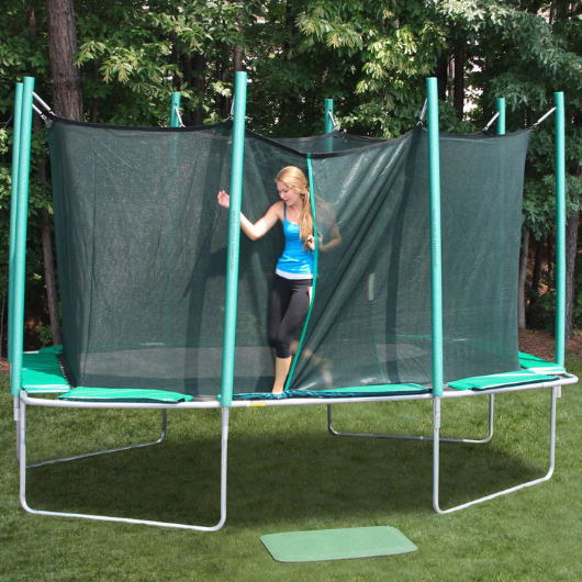 9' x 14' Rectagon Magic Circle Trampoline with Safety Cage