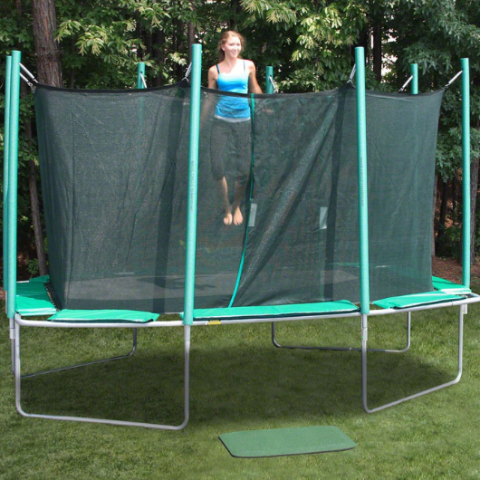9' x 14' Rectagon Magic Circle Trampoline with Safety Enclosure