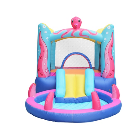 ALEKO Bounce House Octopus Themed with water sprayer and pool