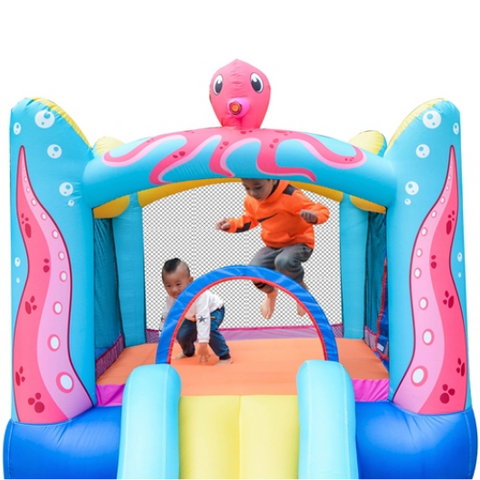 ALEKO Bounce House Octopus Themed -kids playing