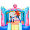 Image of ALEKO Bounce House Octopus Themed -kids playing