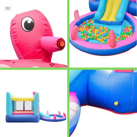 ALEKO Bounce House Octopus Themed - components