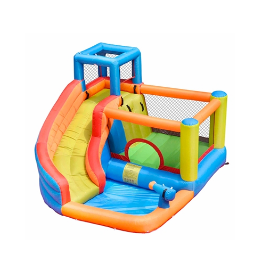 ALEKO Inflatable Bounce House with Water Sprayer and Splash Pool