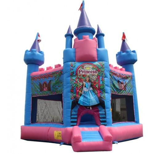 Inflatable Slide - Princess Castle Commercial Bounce House - The Bounce House Store