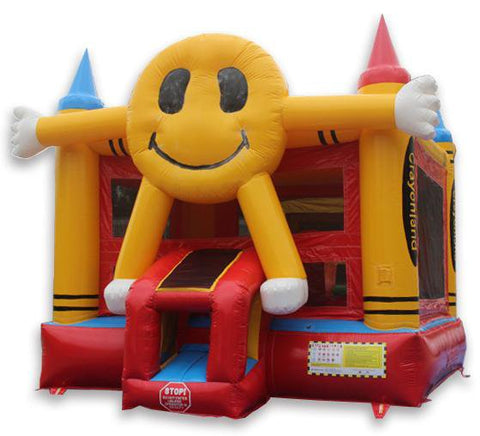 Commercial Bounce House - Happy Face Commercial Bounce House - The Bounce House Store