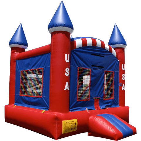 Commercial Bounce House - EZ Inflatables USA Castle - The Bounce House Store