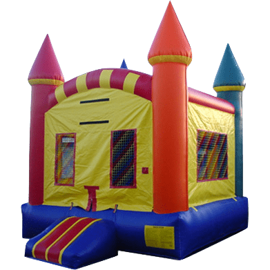 Commercial Bounce House - EZ Rainbow Castle Jumper - The Bounce House Store