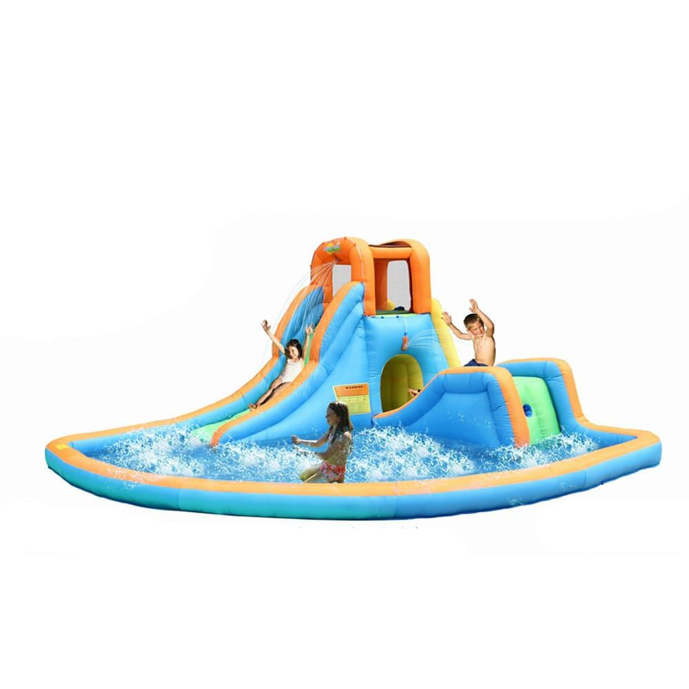 Residential Bounce House - Bounceland Inflatable Cascade Water Slide with Pool - The Bounce House Store