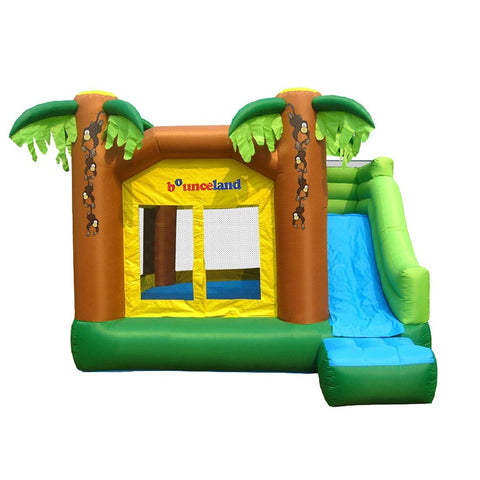 Residential Bounce House - Bounceland Jungle Bounce House with Slide - The Bounce House Store
