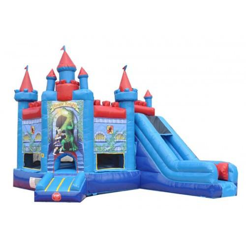 Commercial Bounce House - Brave Knight Castle Combo Commercial Bounce House - The Bounce House Store