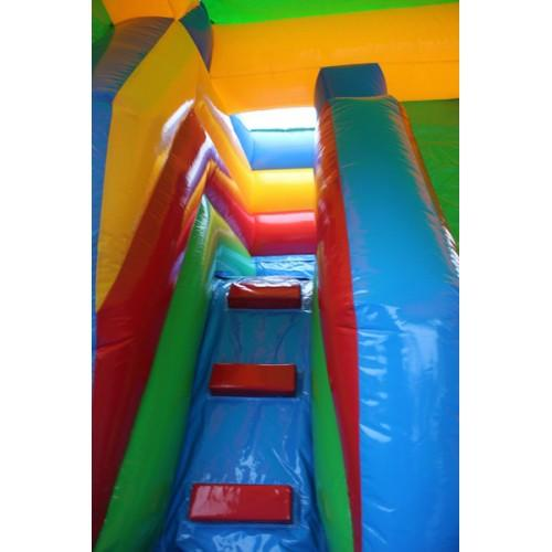 stairs leading to the inflatable slide platform