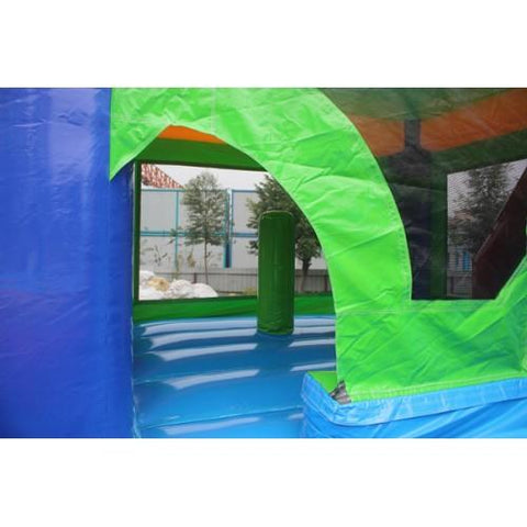 entrance to the jump area in the commercial bounce house combo
