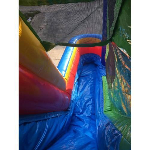 inflatable slide that can be used wet or dry