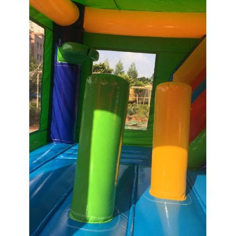 inflatable pop up obstacles inside the commercial bounce house