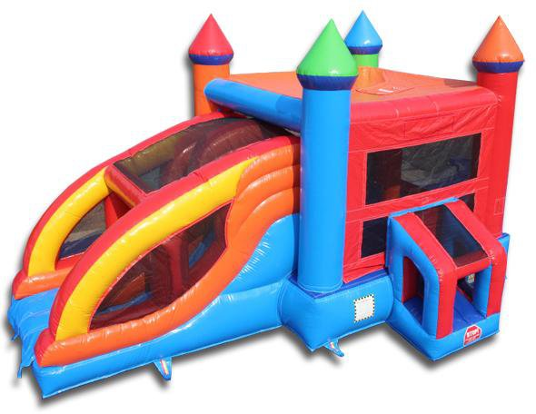 Commercial Bounce House - 2 Lane Bouncer Slide Combo - The Bounce House Store