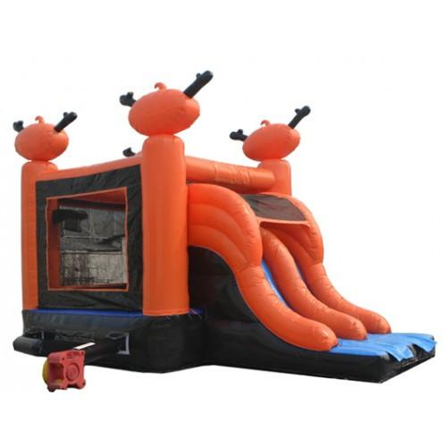 Commercial Bounce House - Halloween Bounce House 2-Lane Slide Combo - The Bounce House Store