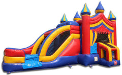Commercial Bounce House - 2-Lane Carnival Combo Bouncer Wet n Dry - The Bounce House Store