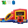 Image of Commercial Bounce House - 2-Lane Module Combo Bouncer Wet n Dry - The Bounce House Store