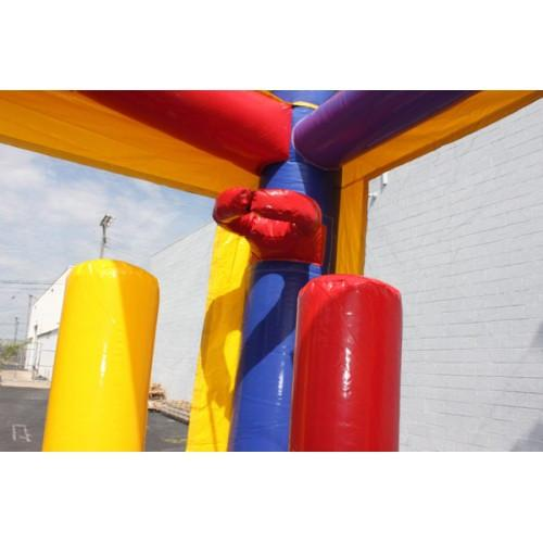 Commercial Bounce House - 2-Lane Balloon Combo Bouncer Wet n Dry - The Bounce House Store