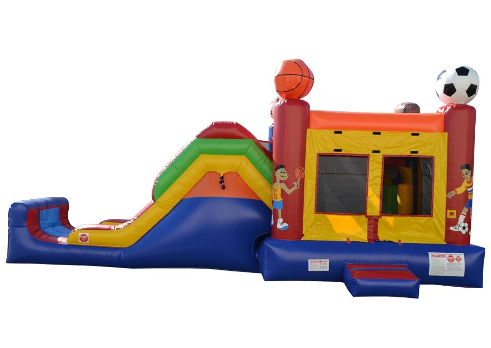Commercial Bounce House - 5 in 1 Super Combo Sports Bounce House - The Bounce House Store