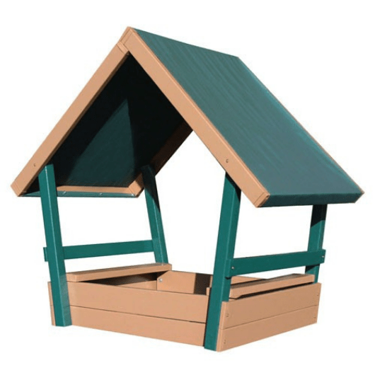 CONGO Kid's Chalet Wooden Sandbox with Roof
