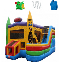 4-in-1 Commercial Bounce House Combo Wet n Dry