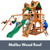 Image of Chateau Wooden Cedar Swing Set with Malibu Wood Roof