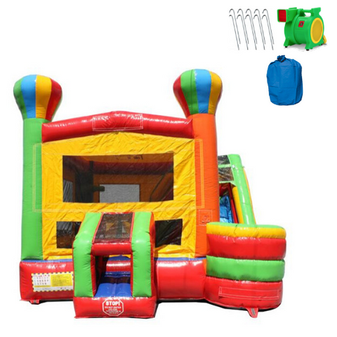 Balloon Commercial Bounce House 4-in-1 Combo Wet n Dry