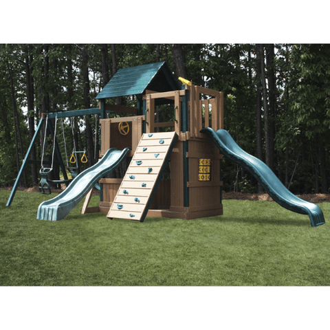 Congo Safari Lookout and Climber Playset With Two Slides