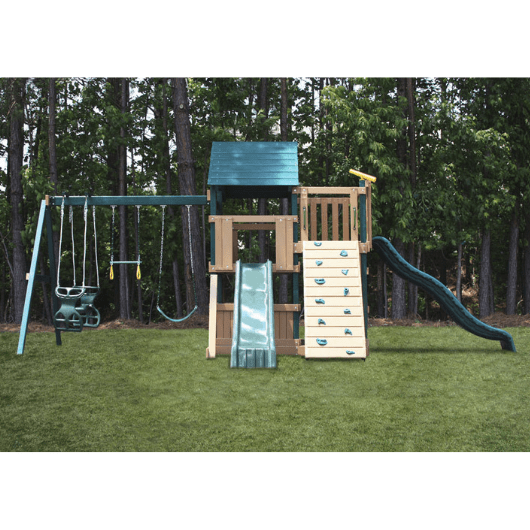 Congo Safari Lookout and Climber Swing Set Front View