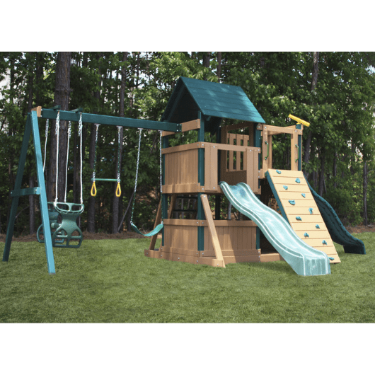 Congo Safari Lookout and Climber Swing Set Left Side View