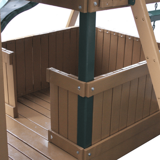 Congo Safari Lookout and Climber Swing Set Lower Fort