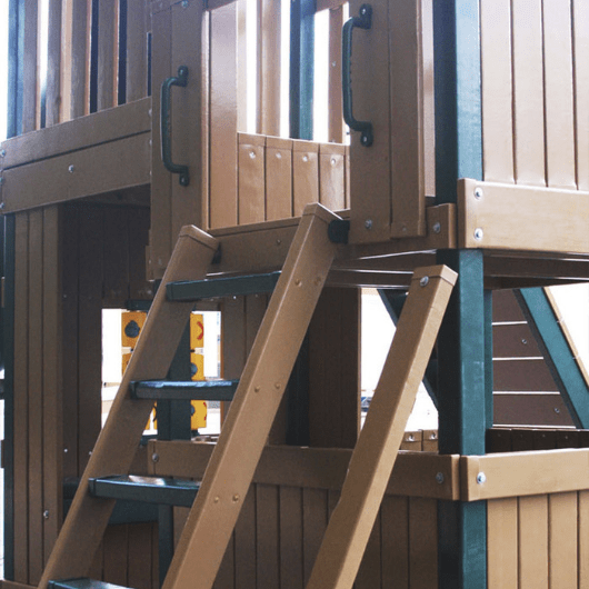 Congo Safari Lookout and Climber Swing Set Stairs to Fort