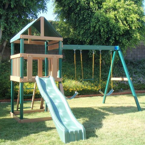 kidwise safari outdoor swing set