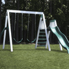 Image of Congo Swing'N Monkey 2 Swing Set in White and Green color