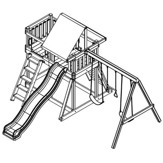 congo monkey playsystem swing set