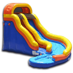 Inflatable Slide - 19'H Curved Inflatable Slide Wet/Dry - The Bounce House Store