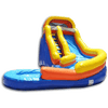 Image of Inflatable Slide - 19'H Curved Inflatable Slide Wet/Dry - The Bounce House Store
