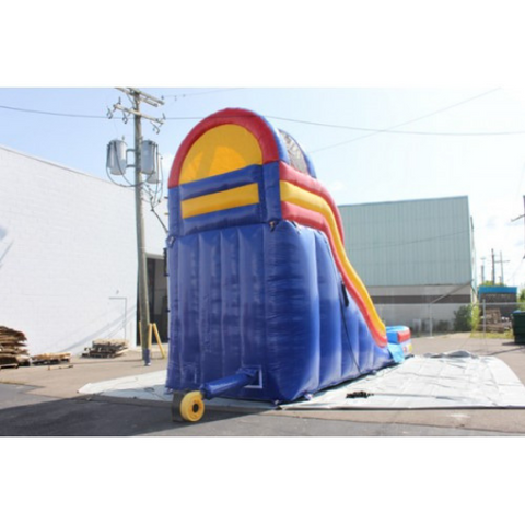 18'H Double Dip Inflatable Slide Wet n Dry (RBY)