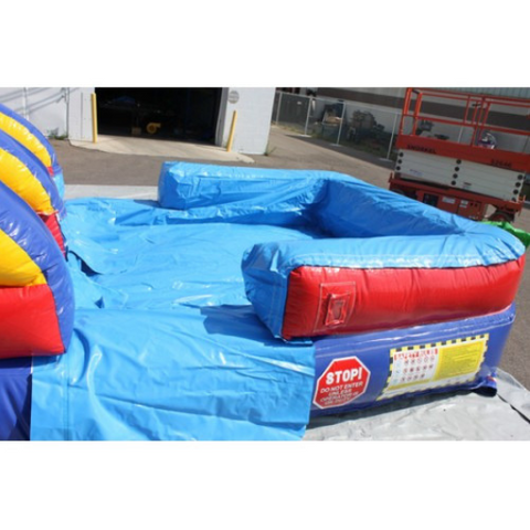 18'H Double Dip Inflatable Slide Wet and Dry - RBY - Splash Pool