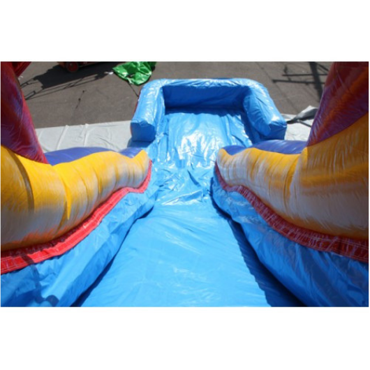 18'H Double Dip Inflatable Slide Wet and Dry - RBY - Slide