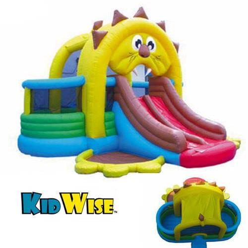 Commercial Bounce House - KidWise Commercial Lion's Den Bouncer and Slide - The Bounce House Store