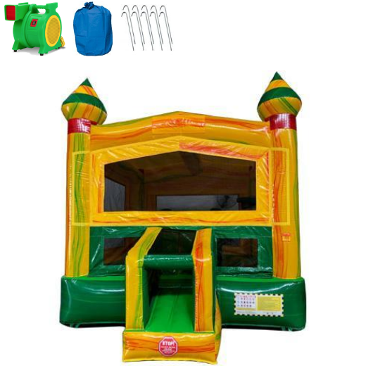 14' Fiesta Castle Commercial Bounce House