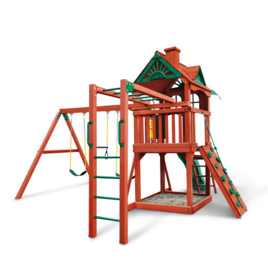 Gorilla Five Star II Wooden Swing Set with Monkey Bars