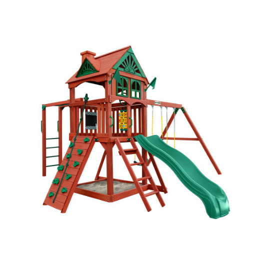 Gorilla Five Star II Wooden Swing Set