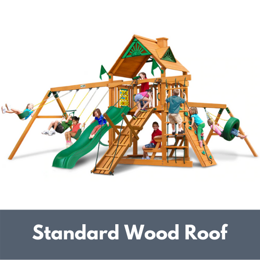 Gorilla Frontier Wooden Swing Set with Standard Wood Roof