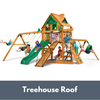 Image of Gorilla Frontier Wooden Swing Set with Treehouse Roof