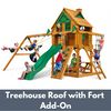 Image of Gorilla Chateau Wooden Playset with Treehouse Roof and Fort Add On